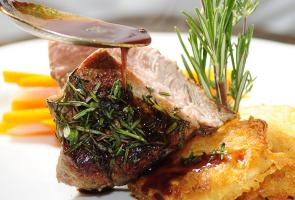 Kastelruth beef sirloin steak with fresh mountain herbs